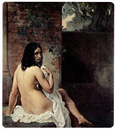 """Francesco Hayez """"Susanna at her Bath"""" Oil on canvas Romanticism Located in the Pinacoteca di Brera, Milan, Italy Portraits, Italian Painters, Oil Painting Reproductions, Western Art, Vintage Posters, Vintage Art, Art History, Art Gallery, Fine Art"""