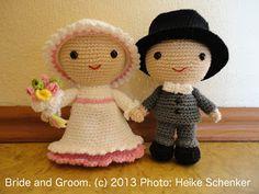 Brautpaar Amigurumi ~ Amigurumi Häkelanleitungen von K and J Dolls