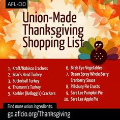 Made in USA Thanksgiving! #buyamerican http://www.aflcio.org/Blog/Other-News/Union-Made-in-America-Thanksgiving