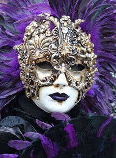 Carnevale di Venezia. Yes I know it's purple..but everything can't go into the purple file :)