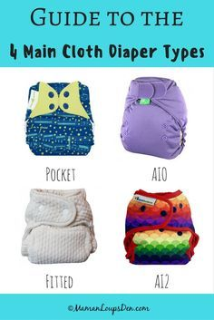Cloth Diapering 101 The 4 Main Types of Cloth Diapers Explained by Maman Loups Den Used Cloth Diapers, Reusable Diapers, Cloth Nappies, Prefold Diapers, Natural Baby, Baby Time, Baby Feeding, Baby Fever, Future Baby