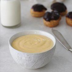 Vanilla Cream Filling Recipe, Custard Cream Recipe, Cream Puff Filling, Cream Puff Recipe, Cream Recipes, Custard Donut Filling Recipe, Fun Baking Recipes, Donut Recipes, Tart Recipes