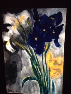 "Emil Nolde ""Iris"" Danish German Expressionist Die Brucke Art 35mm Slide"