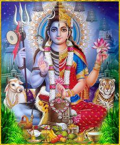 "ArdhanarIshvara ॐ ""ArdhanarIshvara represents Lord Shiva and Goddess Parvati as one. Shiva Parvati Images, Shiva Hindu, Hindu Deities, Hindu Art, Arte Shiva, Shiva Art, Ganesha Art, Shiva Shankar, Lord Shiva Hd Images"