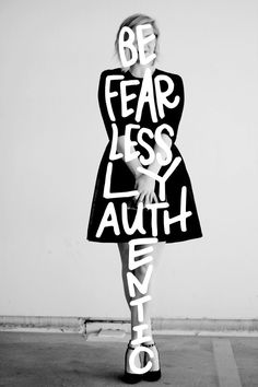 Be fearlessly authentic // Silhouettes // 005 - A Lettering Series pommellane Cool Words, Wise Words, Motivational Quotes, Inspirational Quotes, Word Art, Beautiful Words, Beautiful Wall, Beautiful Life, Quotes To Live By