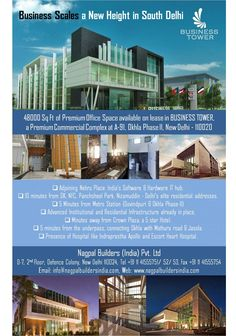 Premium Commercial Office Building by Nagpal Builders (India) Pvt. Ltd. in South Delhi.