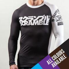 SCRAMBLE BJJ RANKED RASH GUARD - ALL COLOURS  $59.99 http://store.scramblestuff.us/collections/rashguards/products/scramble-bjj-ranked-rash-guard-all-colours