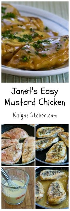 Janet's Easy Mustard Chicken (from my sister Janet) is delicious and ...