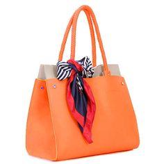 Simple temperament and elegant  Etsuko - Womens fashion orange #tote bags