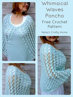 Whimsical Waves Poncho a free crochet pattern