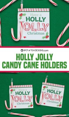 This Holly Jolly printable candy cane holders would make great gift tags on a present, a candy gram for a school or just handed out to that special someone! Mom Birthday Crafts, 90th Birthday Gifts, Birthday Gift Baskets, Candy Poster Board, Candy Bar Posters, Candy Cane Game, Christmas Gifts For Kids, Christmas Things, Christmas Time