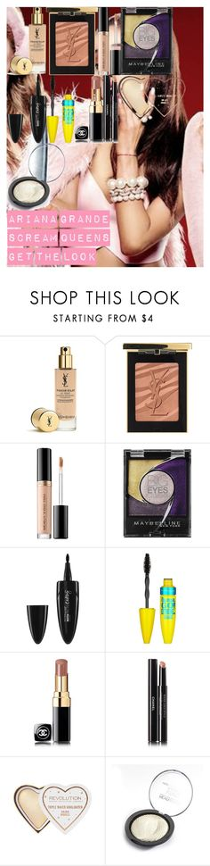 """Ariana Grande Scream Queens get the look"" by oroartye-1 on Polyvore featuring beauty, Yves Saint Laurent, Too Faced Cosmetics, Maybelline and Chanel"