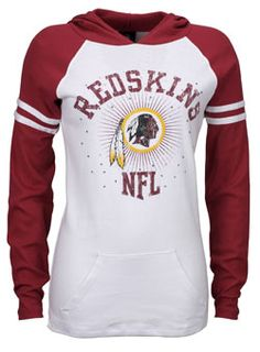 a27d67558 LADIES LONG SLEEVE HOODED REDSKINS TEE Redskins Fans