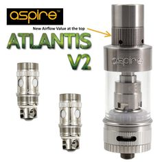 The Aspire Atlantis 2 Sub Ohm Tank is New for April 2015 and is new and improved version of the original Atlantis sub-ohm tank by Aspire - featuring improved coils, mouth piece and airfow and larger juice capacity - Its diameter is Perth Australia, Electronic Cigarette, Atlantis, Melbourne, Larger, Juice, Projects, Log Projects, Vaping Mods