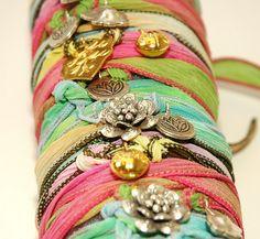 silk ribbon bracelets wraps