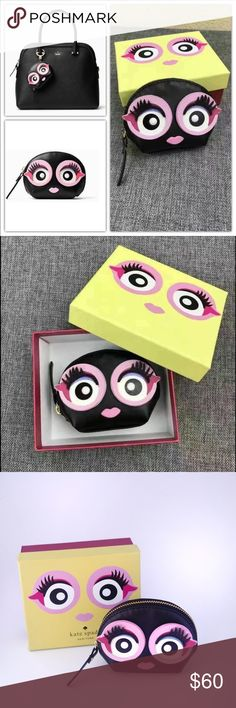 Kate Spade Imagination Monster Coin Purse brand new. Comes with the box. But no price tag.   scary chic: this coin purse, decorated with an irresistible monster face, is the perfect place to stash your spare change.  MATERIAL * smooth cow leather * bookstripe print on poly twill FEATURES * coin wallet with key fob * zip around closure DETAILS * 3.5x4.3x1.6 kate spade Bags Wallets