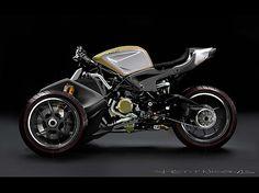 Reverse trike Ducati concept by Nicolas Petit