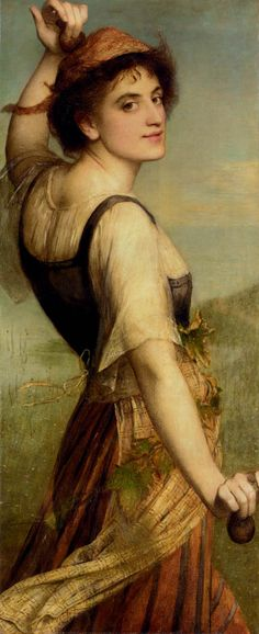 Edward Charles Halle (1846-1914) The dancing girl Oil on canvas  45.7 x 110.5 cm (17.99 x 3 7½)