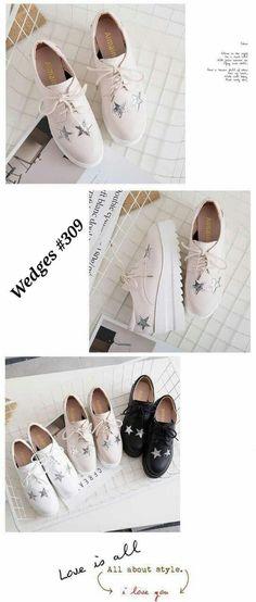 Sepatu wanita Wedges Korea  309 Tinggi 8cm Berat 750gram 3 wrn Putih 5f180fe731