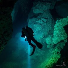 Discover. Cave diving is a very niche side of scuba diving, and people love it or hate it. Would you dive in a dark cave like this? (Note, this shot is from The Pit cenote, as I haven't had a chance to do proper cave training). #cenote #scubadiving #scuba #exploremore #exploreeverything #discover