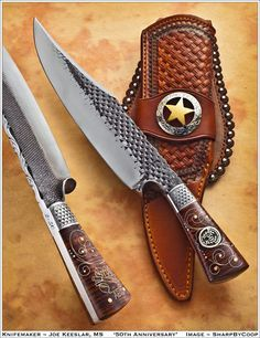 Joe Keeslar Rasp and file bladed Knives Swords And Daggers, Knives And Swords, Forged Knife, Cool Knives, Knife Sheath, Handmade Knives, Custom Knives, Survival Knife, Knife Making