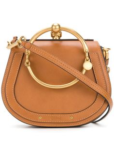 1e9b79ad5fd4d6 Nile bracelet bag Chloe Brown, Small Shoulder Bag, Leather Shoulder Bag,  Suede Bracelet