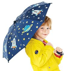 Stars and Rockets Color-Change Umbrella