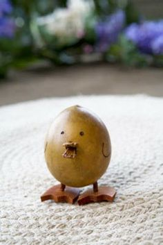 Our baby duck gourd makes us smile.