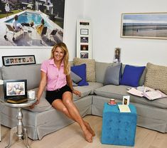 My haven: Miranda actress Sarah Hadland, 44, in the garden office of her London home