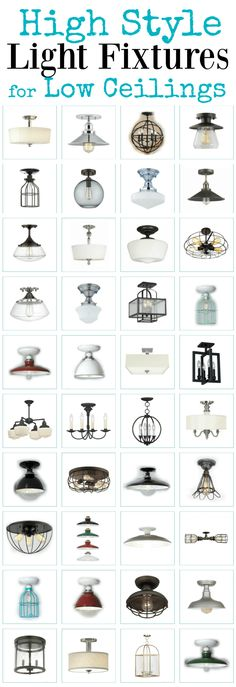 High style semi flush ceiling lights for standard height ceilings