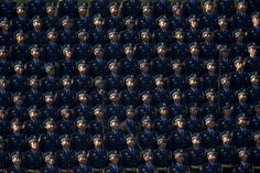 Soldiers of the People's Liberation Army (PLA) of China stand in formation as they gather ahead of a military parade to mark the 70th anniversary of the end of World War Two, in Beijing, China, September 3, 2015. © Stringer China