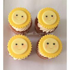 Fondant Sun Cupcake Toppers