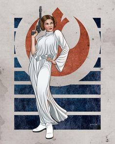Princess Leia Organa by on DeviantArt Star Wars Love, Star Wars Girls, Star Wars Art, Star Wars Characters Pictures, Star Wars Images, Female Characters, Pulp Fiction, Science Fiction, Cyberpunk