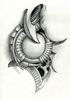 biomech tattoo flash by Ignitron on DeviantArt Biomech Tattoo, Biomechanical Tattoo Design, Cyborg Tattoo, Hannya Mask Tattoo, Tattoo Tribal, Skull Girl Tattoo, Skull Tattoos, Body Art Tattoos, Tattoo Drawings