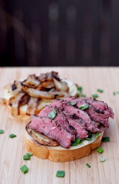 Steak & Potato Barbecued Grilled Cheese Sandwich
