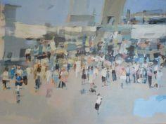 Caroline Yates 'The World's Fair' Oil on canvas