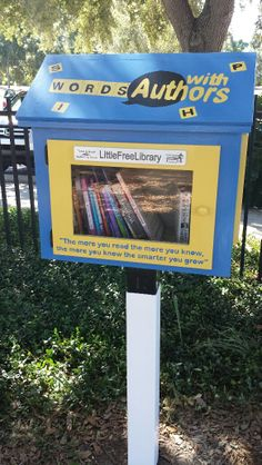 Phyllis Gorshe. Dunedin, FL.   This Little Free Library was sponsored by the Rotary Club of Dunedin. It was decorated by the staff and teens at the Martin Luther King Jr. Center.