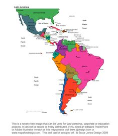 Map Of Central America And South America