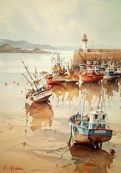 "Christian Graniou (watercolor) ~ Miks' Pics ""Artsy Fartsy V"" board @ http://www.pinterest.com/msmgish/artsy-fartsy-v/"
