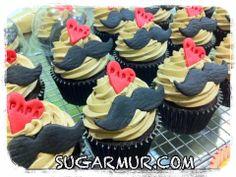 cupcake dia del padre Muffins Decorados, Cupcakes Decorados, Strawberry Cupcakes, Mini Cupcakes, Cupcake Cakes, Cup Cakes, Fathers Day Cupcakes, Fathers Day Cake, Cakes For Men