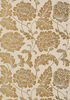 HATHAWAY, Metallic Gold on Linen, T10077, Collection Neutral Resource from Thibaut