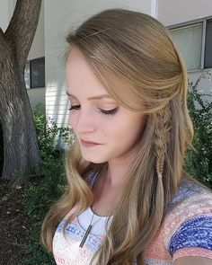 """47 Likes, 1 Comments - Willow and Heather (@thebraidedsisters) on Instagram: """"Day old curls with an accent braid sometimes turns out better than expected  . . .…"""""""