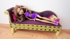How to make a Turkish Style sofa for your doll (Inspired by Monster High Clawdeen Wolf) - Recycling
