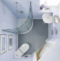 Compact Bathroom Designs-why couldn't I find this when I needed the inspiration