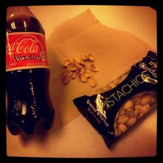metz_ My shit (; #pistachios #Coca-cola #food #amazing #love