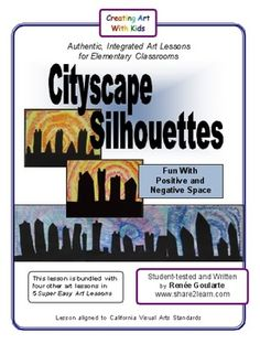 Cityscape Silhouettes - A super easy art lesson. Great for substitutes!