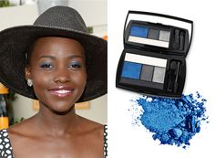 Get the Look: Lupita Nyong'o's Bold Blue Eye Makeup  #InStyle