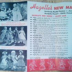 Left inside of 1947/48 Hazelle's Marionettes product brochure.
