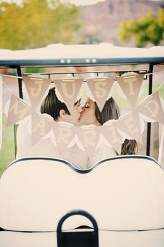 Golf Course Wedding The Frosted Petticoat: Real Weddings - Golf Wedding, Wedding Pictures, Wedding Bells, Destination Wedding, Wedding Day, Golf Theme, Best Golf Courses, Golf Carts, Bridal