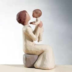 Grandmother figurine by Willow tree. I have this and treasure it. Willow Tree Figures, Willow Tree Nativity, Willow Tree Angels, Willow Tree Grandmother, Grandmothers Love, Tree Sculpture, My Collection, Mother And Child, New Baby Products